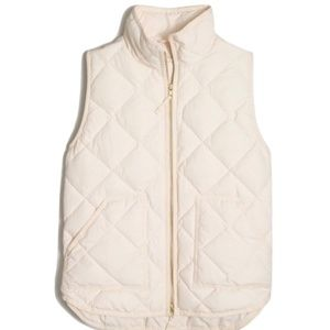 J.Crew White Quilted Puffer Vest